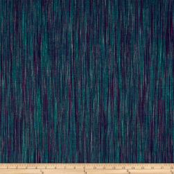 Ombre Ridge Vertical Ikat Green/Purple Fabric