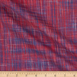 Kolkata Vertical Ikat Red/Blue Fabric