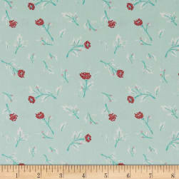 Art Gallery Little Clementine Miss Ditzy's Wintermint Fabric