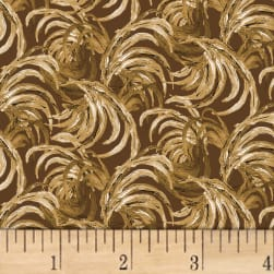 Chicken Scratch Feather Texture Brown Fabric