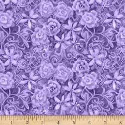 Papillion Parade Tonal Floral Purple