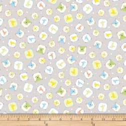 QT Fabrics Lil' Sweeties Framed Animal Toss Gray