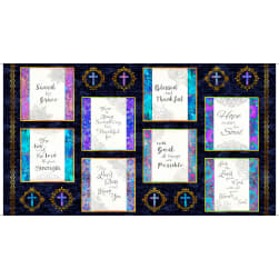 QT Fabrics Faith Religious Picture Patches Square 24'' Panel Navy
