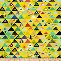 QT Fabrics Wild Side Set Triangles Yellow