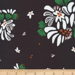 Cloud 9 Fanciful Bouquet Toss Organic Black Fabric