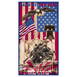 Land Of The Free Panel 24'' Red Fabric