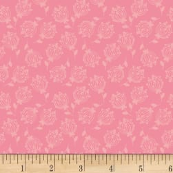 Forest Friends Tossed Dandelions Blush Fabric