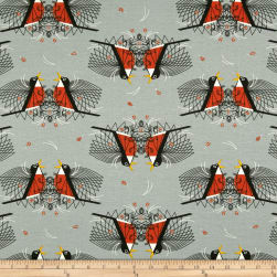 Birch Organic Backyard Round Robin Knit Gray Fabric
