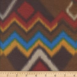 Fleece Print Arizona Brown Fabric