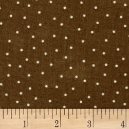 Maywood Studio Beautiful Basics Scattered Dot Earth Fabric
