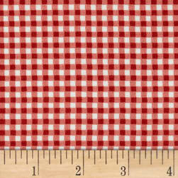 Maywood Studio Beautiful Basics Classic Check Poppy Fabric