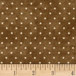 Maywood Studio Beautiful Basics Classic Dot Mushroom Fabric