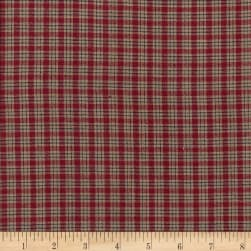 Country Cupboard Mini Plaid Yarn Dyed Wine Fabric