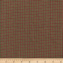 Country Cupboard Check Yarn Dyed Green Fabric