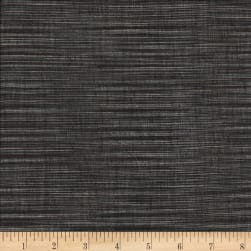 Winding Ridge Ikat Yarn Dyed Black/White Fabric