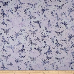 Maywood Studio Coastal Chic Batiks Dragonflies Light Lavender