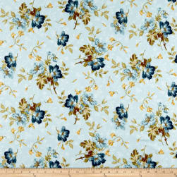 Maywood Studio English Countryside Spaced Floral Light Blue