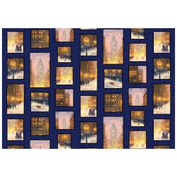 P&B Textiles City Lights City Patchwork Multi