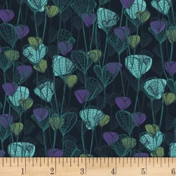 P&B Textiles Forest Fancies Leaves Teal