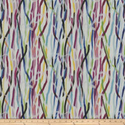 Fabricut Acrylic Paint Rainbow Fabric
