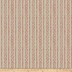 Fabricut Amaris Stripe Linen Blend Claret Fabric