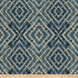 Fabricut Askew Diamond Faux Silk Indigo Fabric