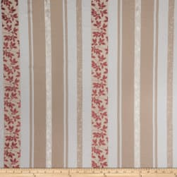 Fabricut Bimini Stripe Linen Blend Strawberry Cream Fabric