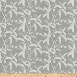 Fabricut Mared Botanical Faux Silk Silver Fabric
