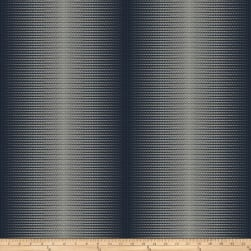Fabricut Somma Stripe Faux Silk Navy Fabric