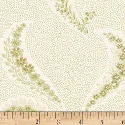 P&B Textiles Amelie Scroll Floral Green