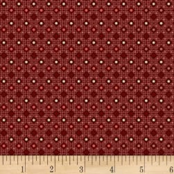 P&B French Paisley Diamonds Dark Red