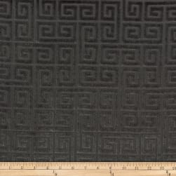 Morgan Fabrics Velvet Greek Key Coal Fabric