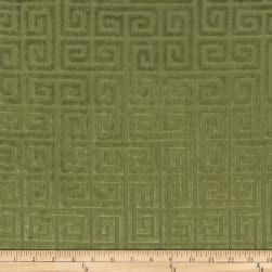 Morgan Fabrics Velvet Greek Key Cactus Fabric