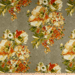 Swavelle/Mill Creek Rite of Spring Basketweave Apricot Fabric