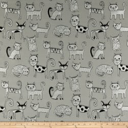 Swavelle/Mill Creek Cool Cats Jacquard Gray Fabric