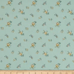 Freespirit Dream Cottage Baby Bloom Spruce Fabric