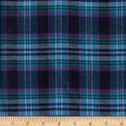 Windstar Twill Flannel Plaid Navy/Purple/Light Blue Fabric