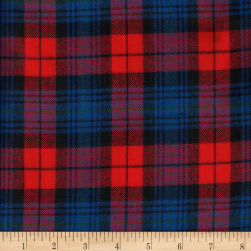 Windstar Twill Flannel Plaid Red/Navy/Royal Fabric