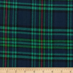 Windstar Twill Flannel Plaid Navy/Red/Green/Teal Fabric