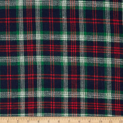 Windstar Twill Flannel Plaid Navy/Red/Green/Natural Fabric