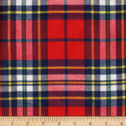 Windstar Twill Flannel Plaid Red/Navy/Yellow/Green Fabric