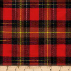 Windstar Twill Flannel Plaid Red/Brown/Black/Yellow Fabric
