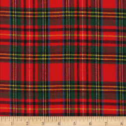 Windstar Tartan Stewart Twill Flannel Red Fabric