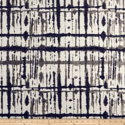 Maddox Chenille Abstract Blue/Gray Fabric