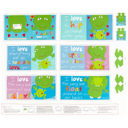 """Huggable And Lovable 6 36"""" Toadally Book Panel"""