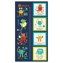Monster Lab Growth Chart Panel  Navy Fabric
