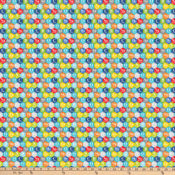 Northcott Big Bang Periodic Hexies Turquoise/Multi