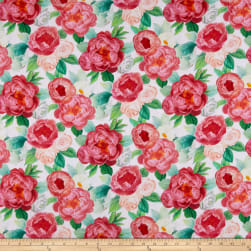 Northcott Blossoming Beauties Digital Floral White/Multi