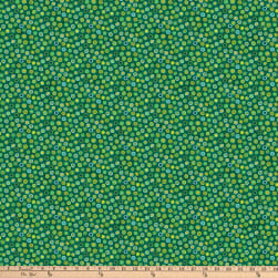Northcott X's and O's Rainforest Fruit Loops Green/Multi