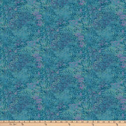 Northcott Dragonfly Moon Royal Garden New Teal